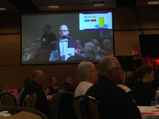 Greg Powel presenting proposal