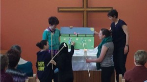 Youth at Presbytery presented a retelling of John 21:15 -19